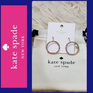 KATE SPADE ROSE GOLD RHINESTONE EARRINGS!